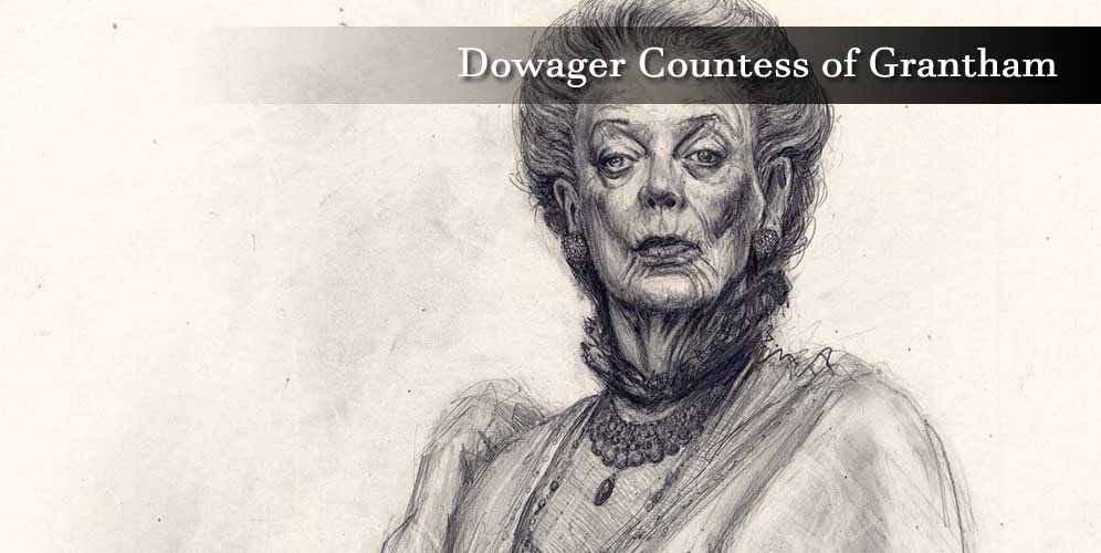 """Dowager Countess of Grantham Violet Crawley (Maggie Smith)"""